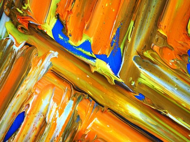 Entregue a pintura a óleo colorida da pintura as multi abstraem o fundo e a textura. Foto Premium
