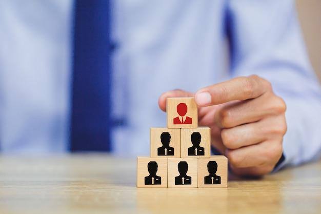 Entregue recursos humanos do negócio, gestão do talento com bem sucedido. Foto Premium