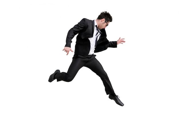 Entusiasta de negócios de salto Foto gratuita