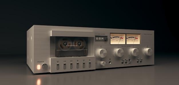 Equipamento estéreo de áudio e música, toca-fitas Foto Premium