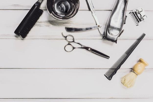 Equipamento na barbearia Foto gratuita