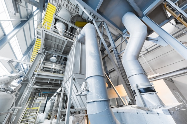 Equipamento para indústria de produção de fibra de vidro na fabricação Foto Premium