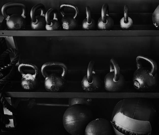 Equipamentos de fitness Foto gratuita