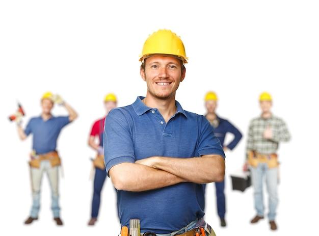 Equipe de trabalhadores Foto Premium