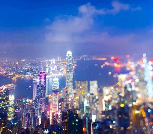 Escapadela da cidade de hong kong Foto Premium
