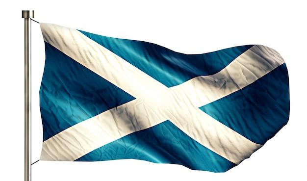 Escócia national flag isolated 3d fundo branco Foto gratuita