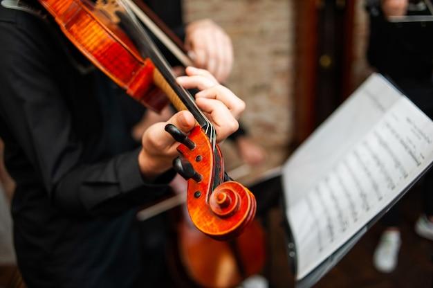 Escola de música no violino Foto Premium