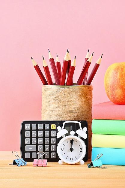 Escola e material de escritório Foto Premium