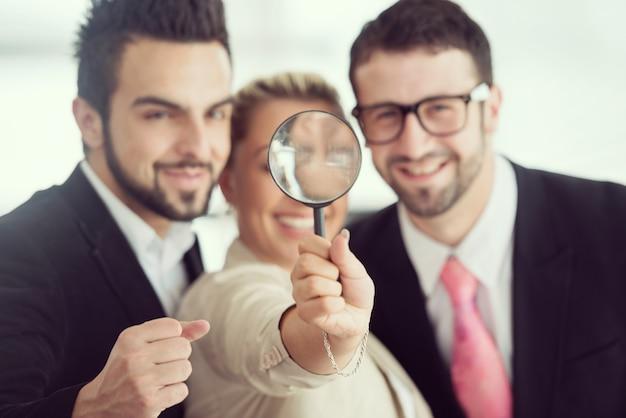 Escritório de trabalho para empresários e executivos Foto Premium
