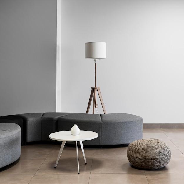 Escritório minimalista com sala vazia Foto Premium