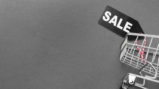 Espaço da cópia do carrinho de compras da venda da cyber segunda-feira Foto gratuita