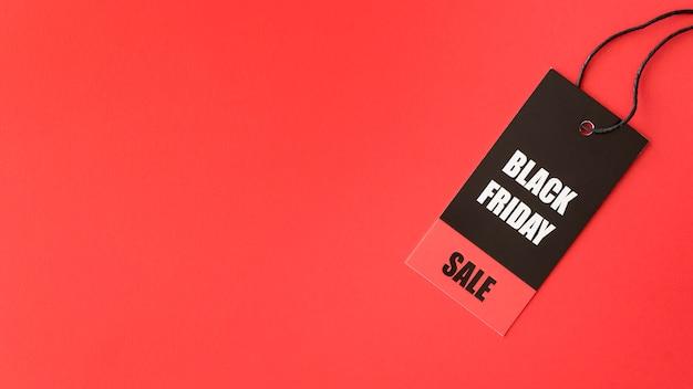 Espaço de cópia de etiqueta de venda black friday Foto gratuita