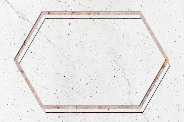 Espaço de design de moldura de mármore Foto gratuita