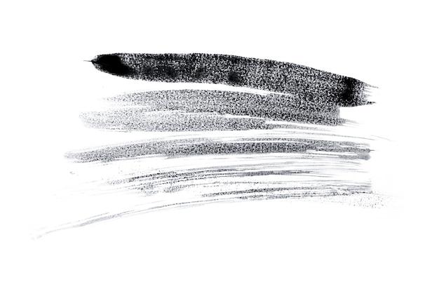 Espaço de respingo de tinta aquarela preta abstrata. respingo de aquarela preto isolado no branco Foto Premium