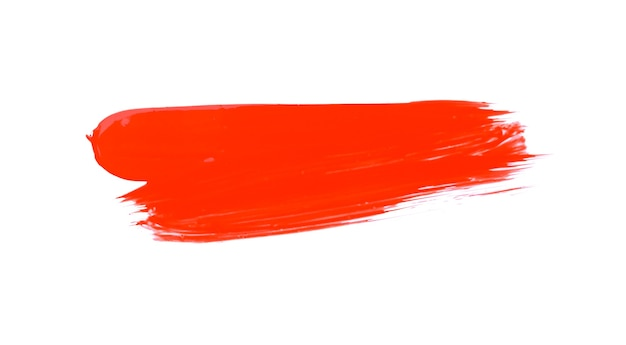 Espaço de respingo de tinta aquarela vermelha abstrata. respingo de aquarela vermelho isolado no branco Foto Premium