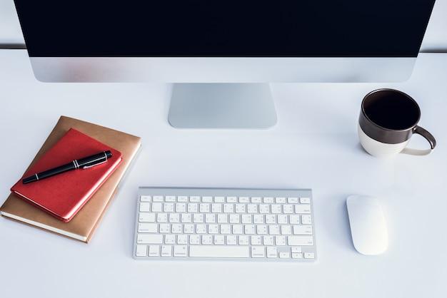 Espaço de trabalho ou plano de fundo Foto Premium
