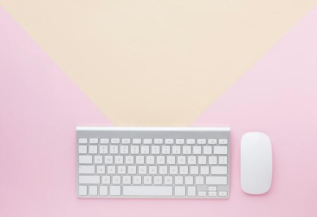 Espaço do teclado e cópia Foto gratuita