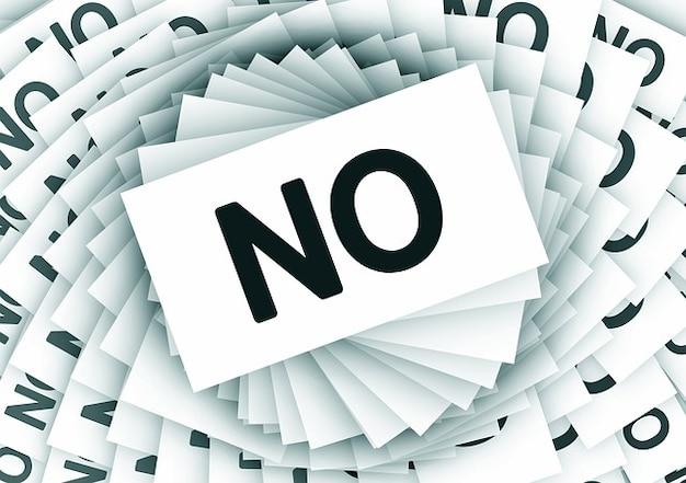 Espiral negativa rejeição nenhum cancelamento cartões Foto gratuita