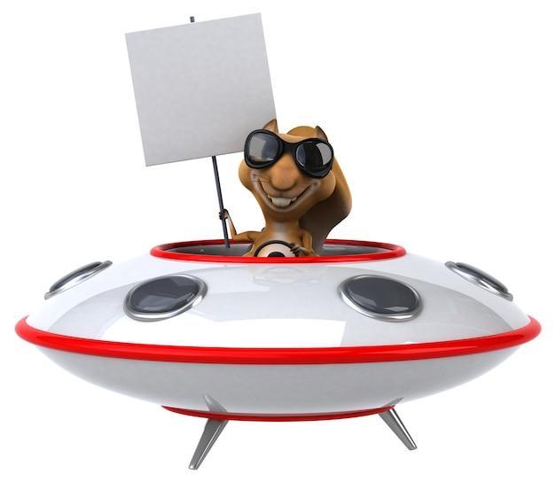 Esquilo divertido - personagem 3d Foto Premium