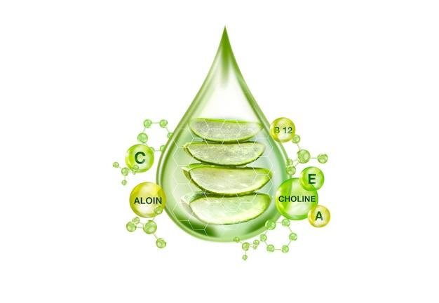 Essencial do conceito de gel de aloe vera Foto Premium