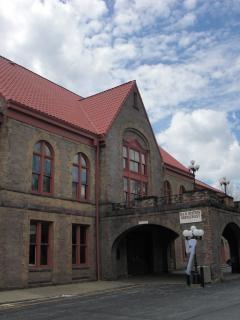 Estação ferroviária - vintage Foto gratuita