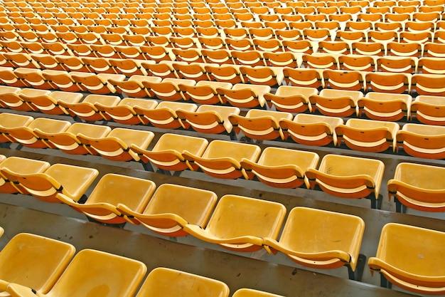 Estádio de assento amarelo Foto Premium