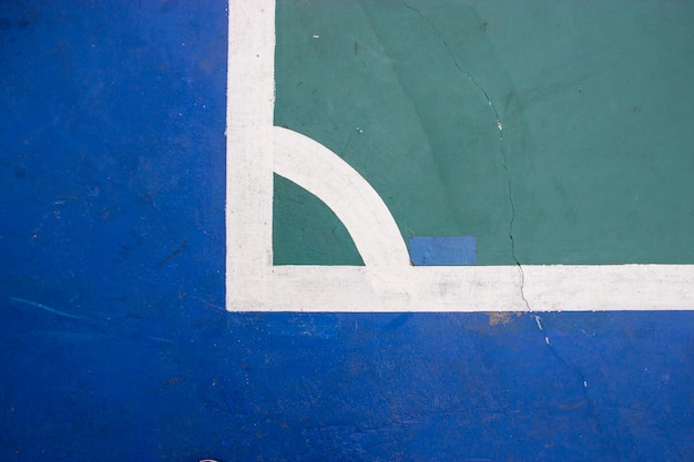 Estádio de esporte indoor de quadra de futsal com marca Foto Premium
