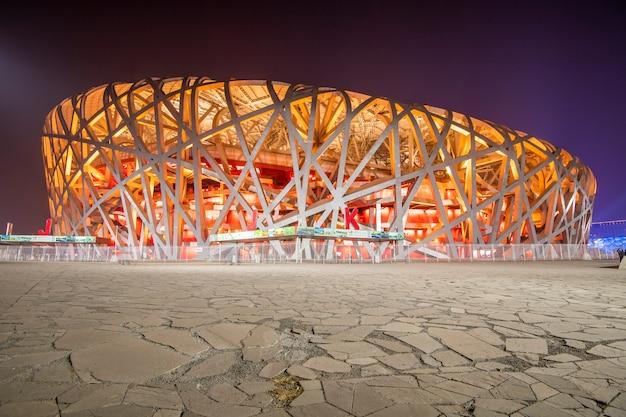 Estádio olímpico de beijing em beijing, china. Foto Premium
