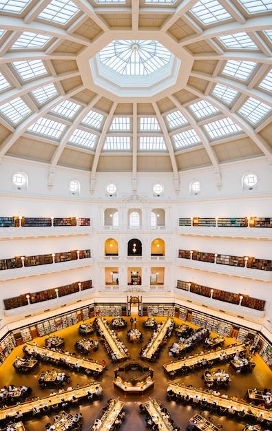 Estado da biblioteca em melbourne Foto gratuita