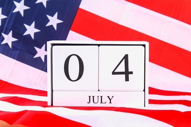 Estados unidos da américa bandeira dos eua para 4 de julho Foto Premium