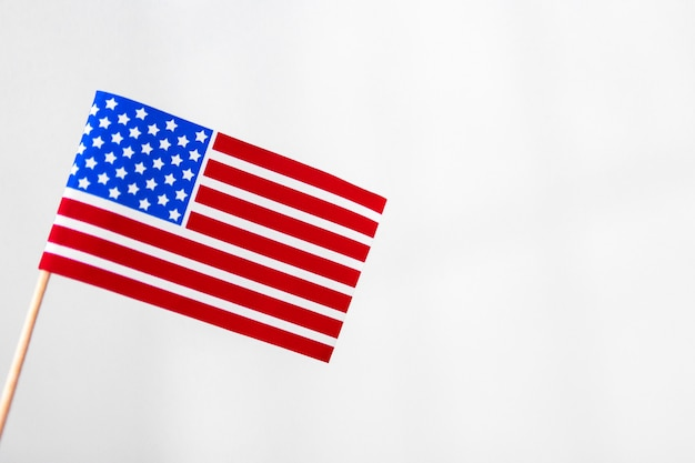 Estados unidos da bandeira americana isolado Foto Premium