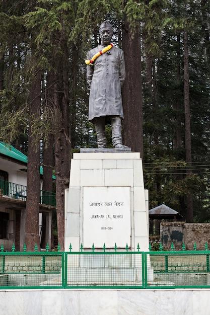 Estátua de jawaharlal nehru Foto Premium