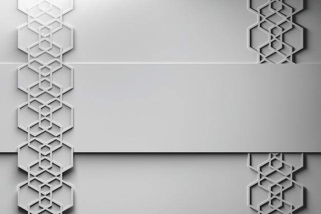 Estilo de papel de arranjo hexagonal tempate Foto Premium