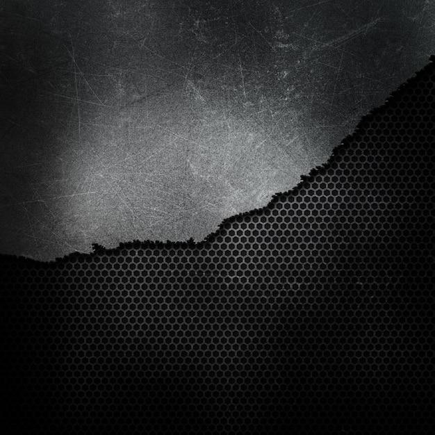 Estilo grunge rachou e fundo metálico quebrado Foto gratuita