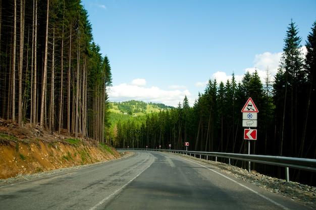 Estrada curva vazia Foto Premium