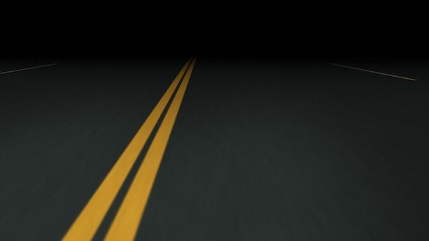 Estrada de asfalto sem fim à noite Foto Premium