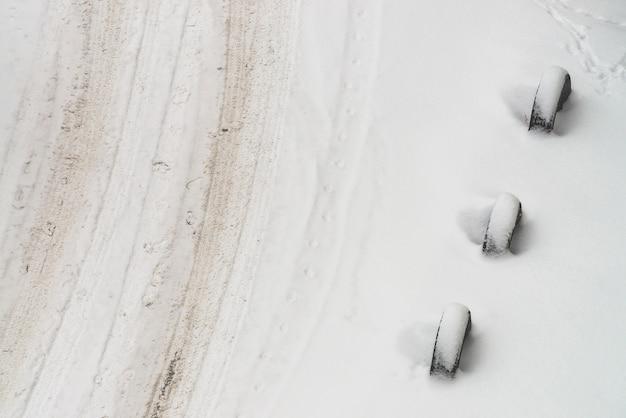Estrada nevado Foto Premium