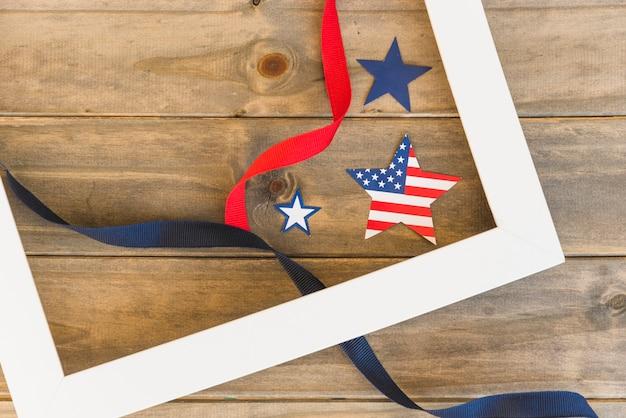 Estrelas americanas no quadro Foto gratuita