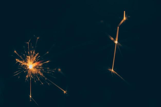 Estrelinha festiva queimando à noite Foto gratuita