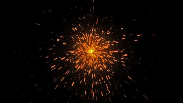 Estrelinhas de fogo em fundo preto Foto Premium