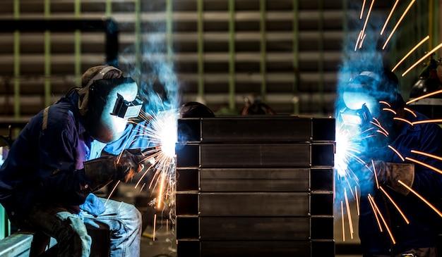 Estrutura de aço de solda Foto Premium