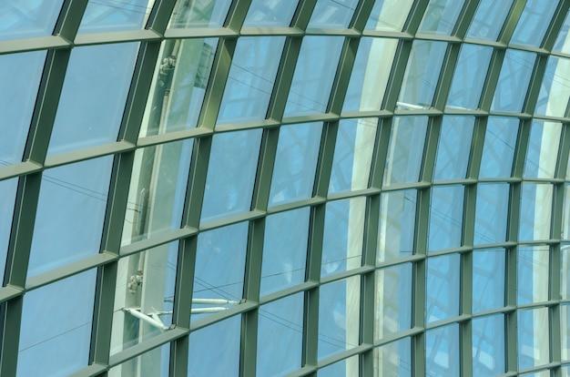 Estrutura de telhado em vidro Foto Premium
