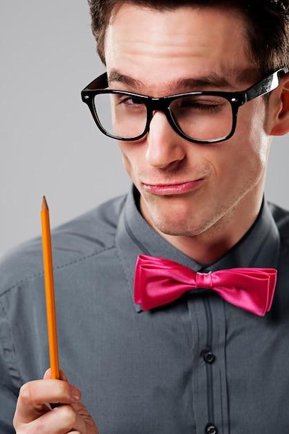 Estudante nerd Foto gratuita