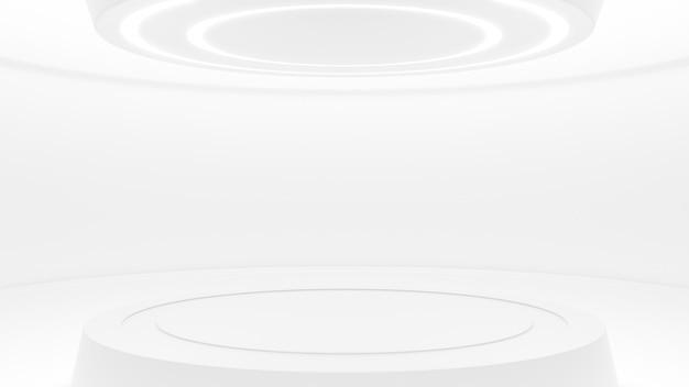 Estúdio branco em estilo futurista Foto Premium