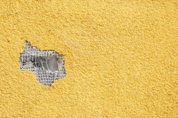 Estuque perfurado amarelo Foto Premium