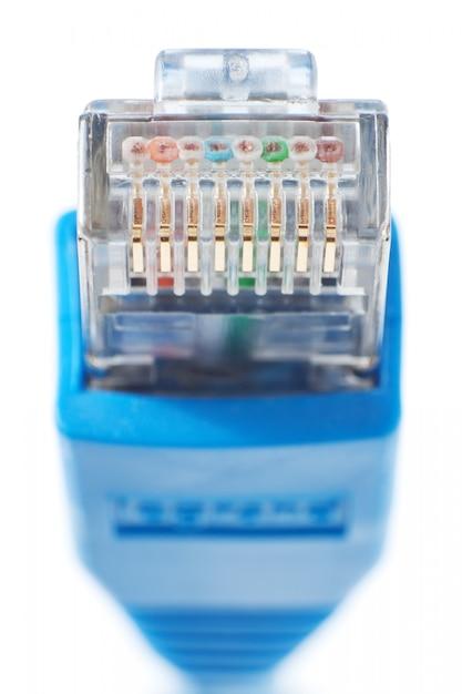 Ethernets da lan do conector Foto Premium
