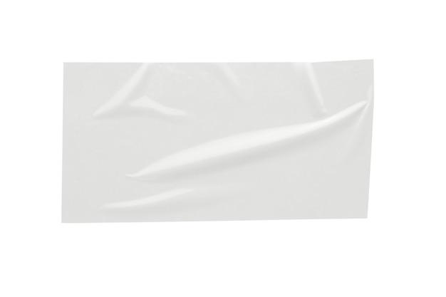 Etiqueta autocolante de papel isolada no fundo branco Foto Premium