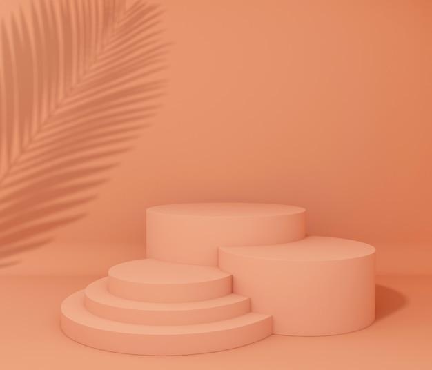 Exibir pódio para apresentação do produto, sombra de árvore tropical Foto Premium
