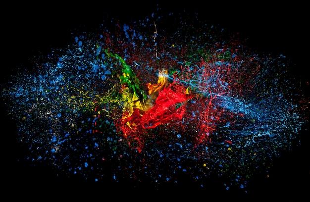 Explosão de cor Foto Premium