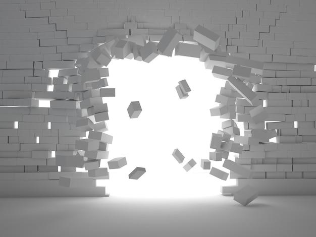Explosão de tijolo Foto Premium